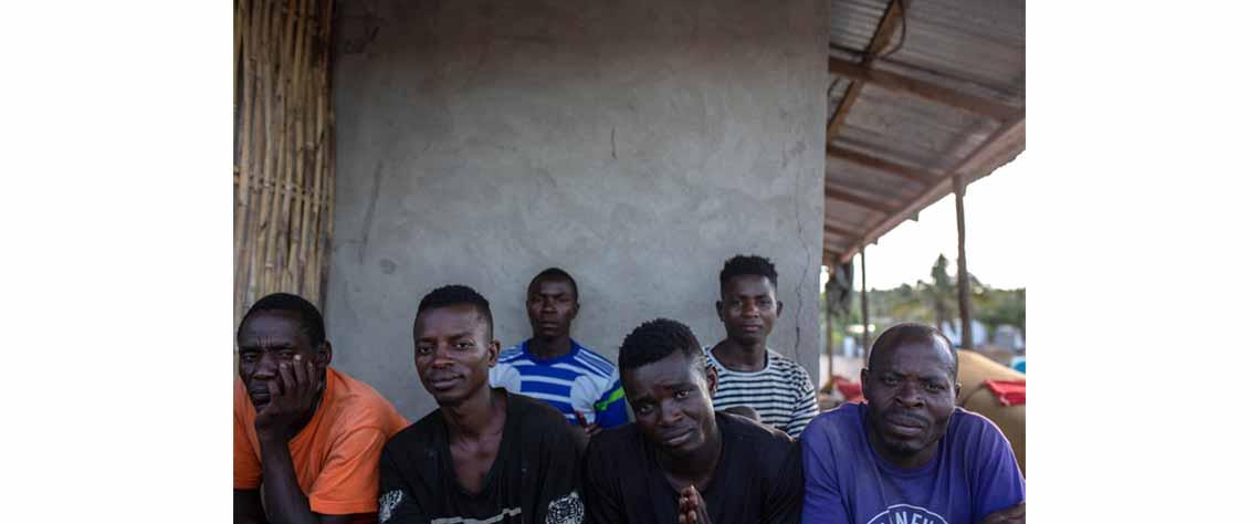 Agricultores de Miangalewa foram obrigados a abandonar seus campos de produção
